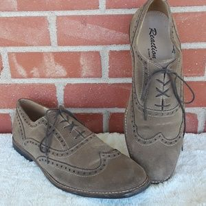 Kenneth Cole Reaction suede leather dress shoes 12
